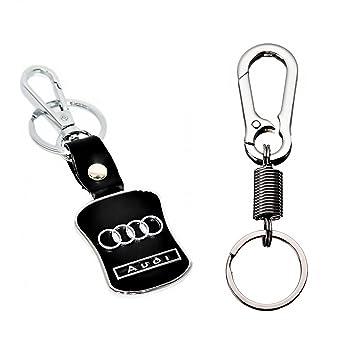 GoNITEO Audi Keychain Combo Of Audi Leather Metal Key Chain - Audi keychain