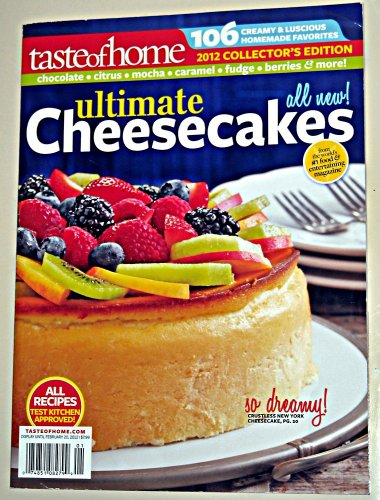 Taste of Home Ultimate Cheesecakes Collector Edition 2012