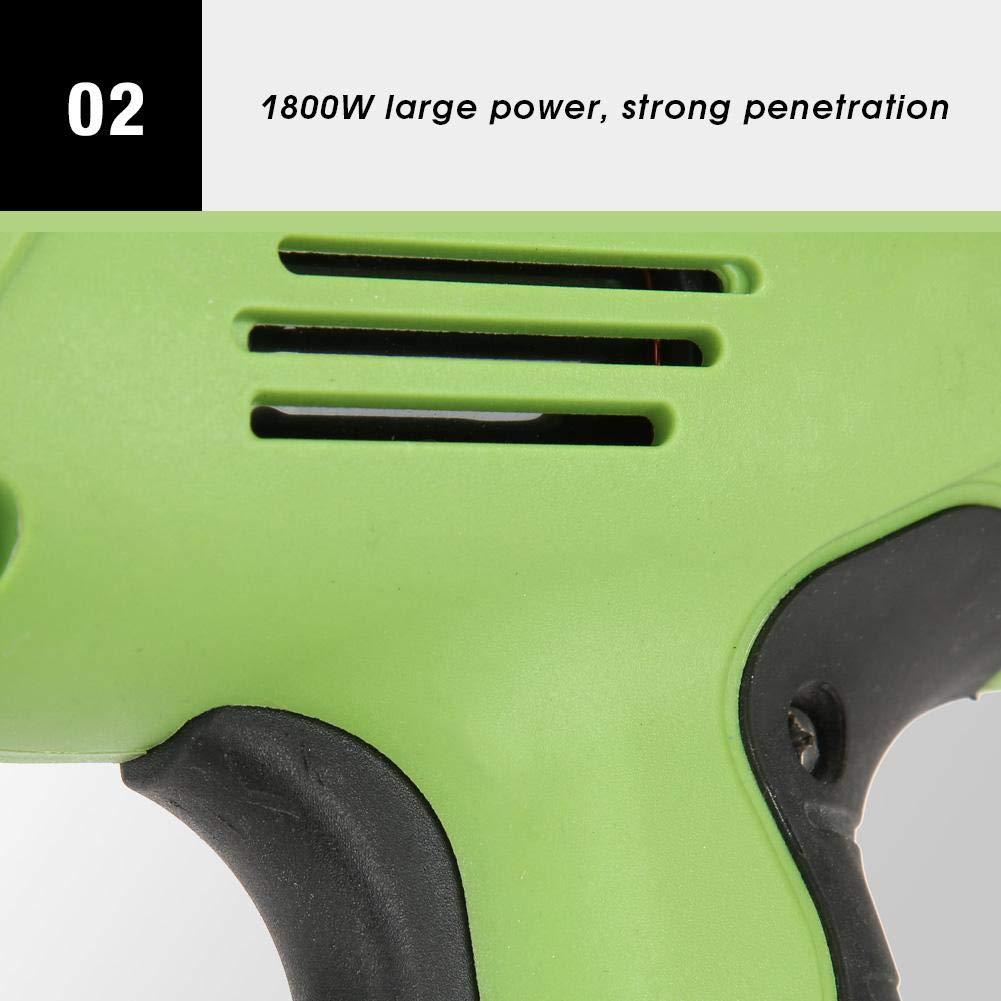 Herramienta Neumatica Pistola Clavos El/éctrica de 1800W Verde 220V Grapadora de El/éctrica Comprimido Clavadora Electrica para muebles de carpinter/ía de bricolaje Clavadoras El/éctrica