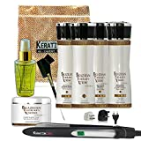 Keratin Cure - Brazilian Therapy Xtreme BTX Treatment Gold Glamour 160ml-5FLOZ 9 Piece Complete Kit