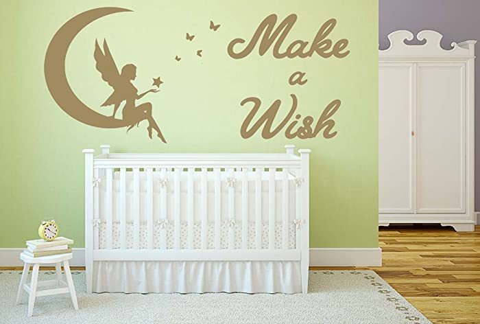 Make a Wish Quote, Vinyl Wall Art Sticker. Mural, Decal. Home, Wall ...