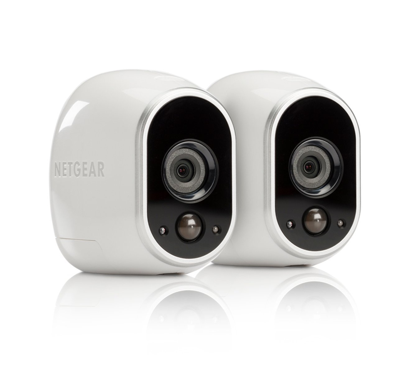 Arlo Security System by NETGEAR - 2 Wire-Free HD Cameras, Indoor/Outdoor, Night Vision (VMS3230C) with Extra Outdoor Mount (VMA1000) - New Version