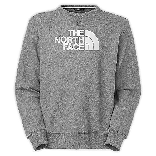 - The North Face Half Dome Fleece Crew Mens Heather Grey/TNF White XL
