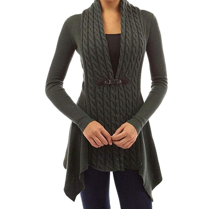 Jerséy y Suéter de BaZhaHei, Chaquetas de Punto para Mujer de Punto Trenzada Blusa Mujer