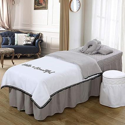 YXLJYH Simple Juego de sábanas para Camilla de Masaje Coreano Belleza Cubierta de Cama 4 Sets