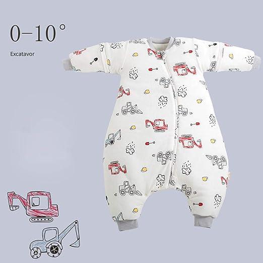 HI SBM Saco de Dormir con Pies para Bebé,Invierno algodón Suave Pijama orgánico de una Pieza con Patas para bebés, Mono para niños-8_24M,Saco de Dormir para bebé con piernas: Amazon.es: Hogar