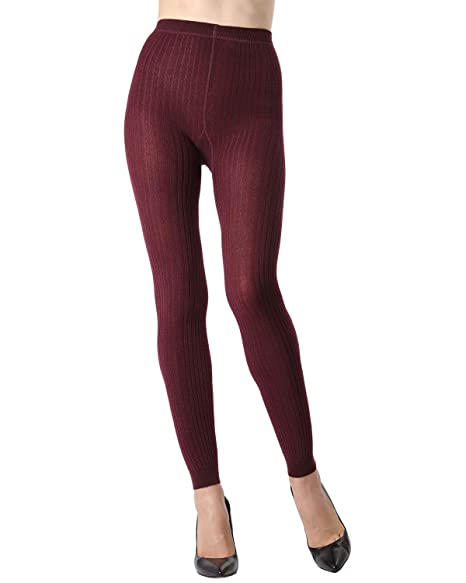 08656b4f2 MeMoi Footless Ribbed Sweater Tights at Amazon Women's Clothing store: