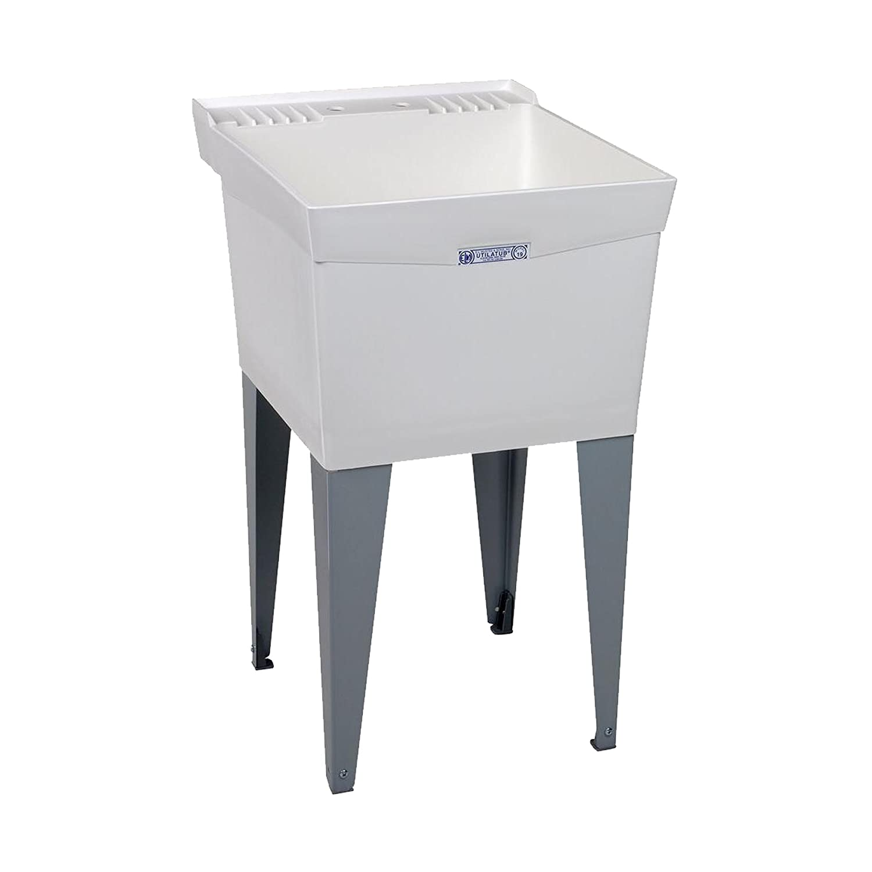Mustee 18F Utilatub Laundry Tub Floor Mount, 24-Inch x 20-Inch, White