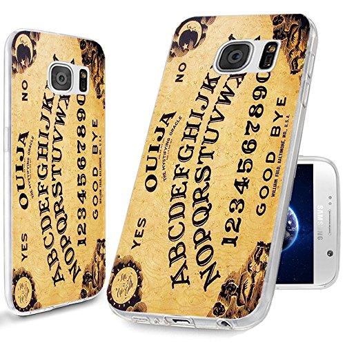 S6 Case, Samsung S6 Case,Galaxy S6 Case , ChiChiC [Cute Design Series] Full Protective unique Case Slim Durable Flexible Soft TPU Rubber Cases Cover for Samsung Galaxy S6 Verizon AT&T Sprint T-Mobile,yellow funny ouija board