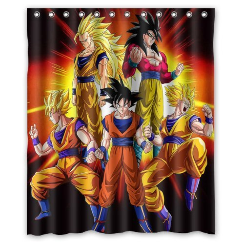Personalized Custom Fashion Dragon Ball Z Shower Curtain Bathroom Decoration Mildew Waterproof Polyester Fabric Shower Curtains 60