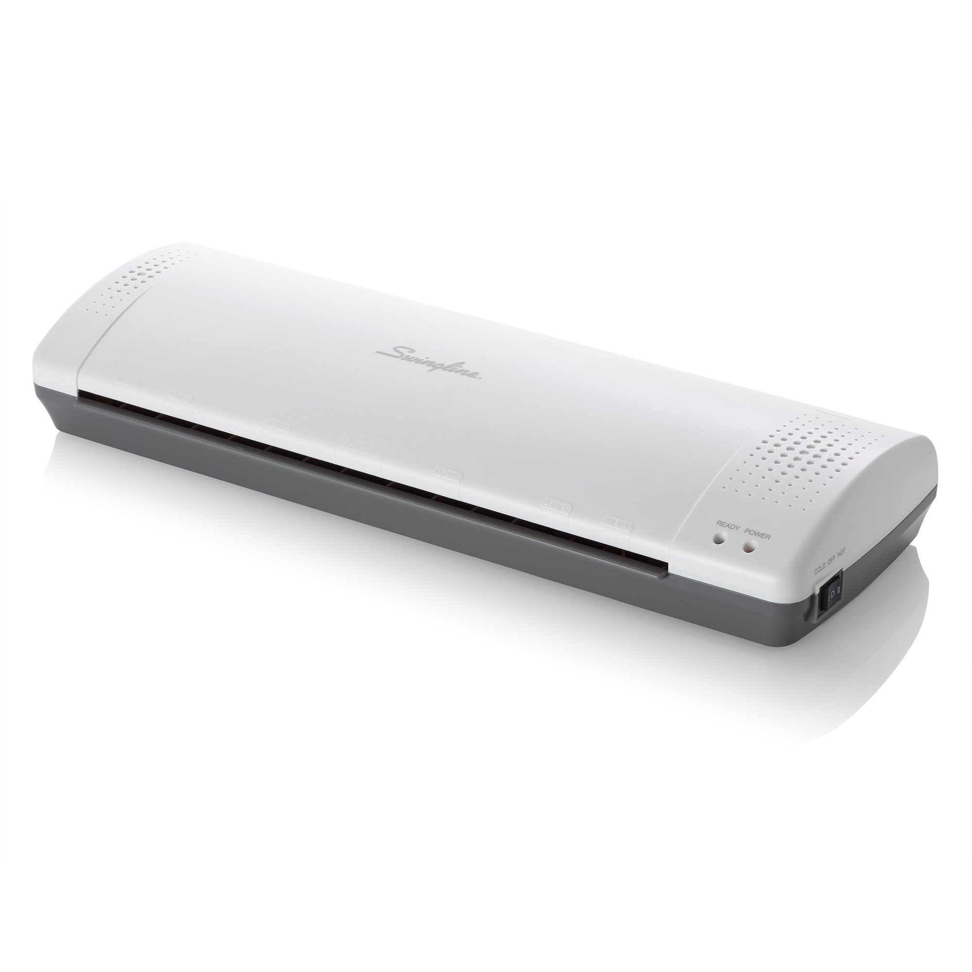 Swingline Laminator, Thermal, Inspire Plus Lamination Machine, 12'' Max Width, Quick Warm-up, Includes Laminating Pouches, White / Gray (1701867)