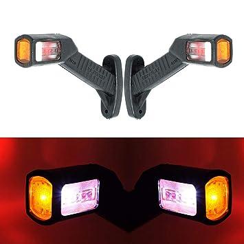 2 x SMD LED 12 V 24 V - Luz de gálibo para camiones y coches: Amazon.es: Coche y moto