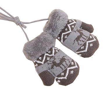 promo code f04e3 86f7d Kinder Winter Plüsch gefütterte Handschuhe mit String ...