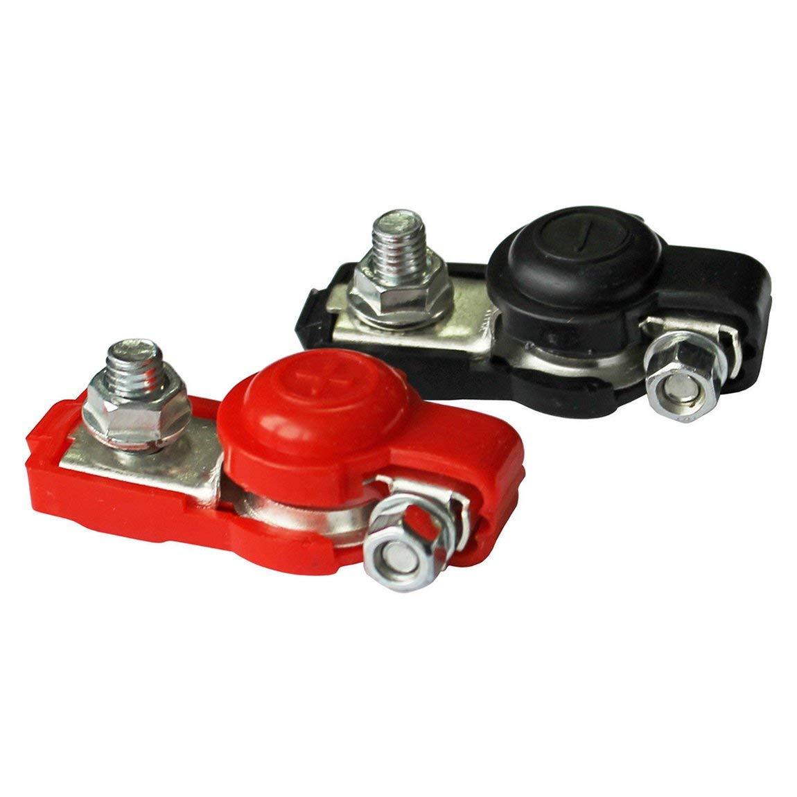 2x morsetti a sgancio rapido della batteria Terminali a 6-12 V terminali della batteria dellauto connettore di colore nero e rosso e colore: rosso e nero