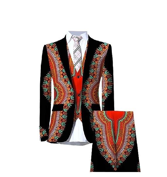Andopa Dashiki algodón africano 3-Piece Tuxedo Blazer ...