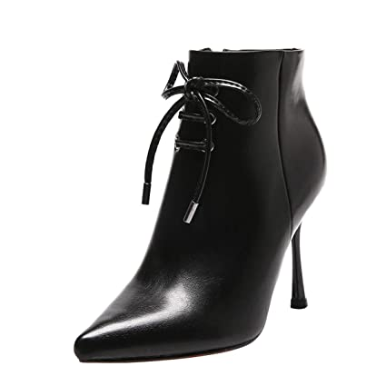 e64cfd6565ece Amazon.com: GTVERNH Women's Shoes/Sexy Pointy Short Boots 9Cm Lace ...