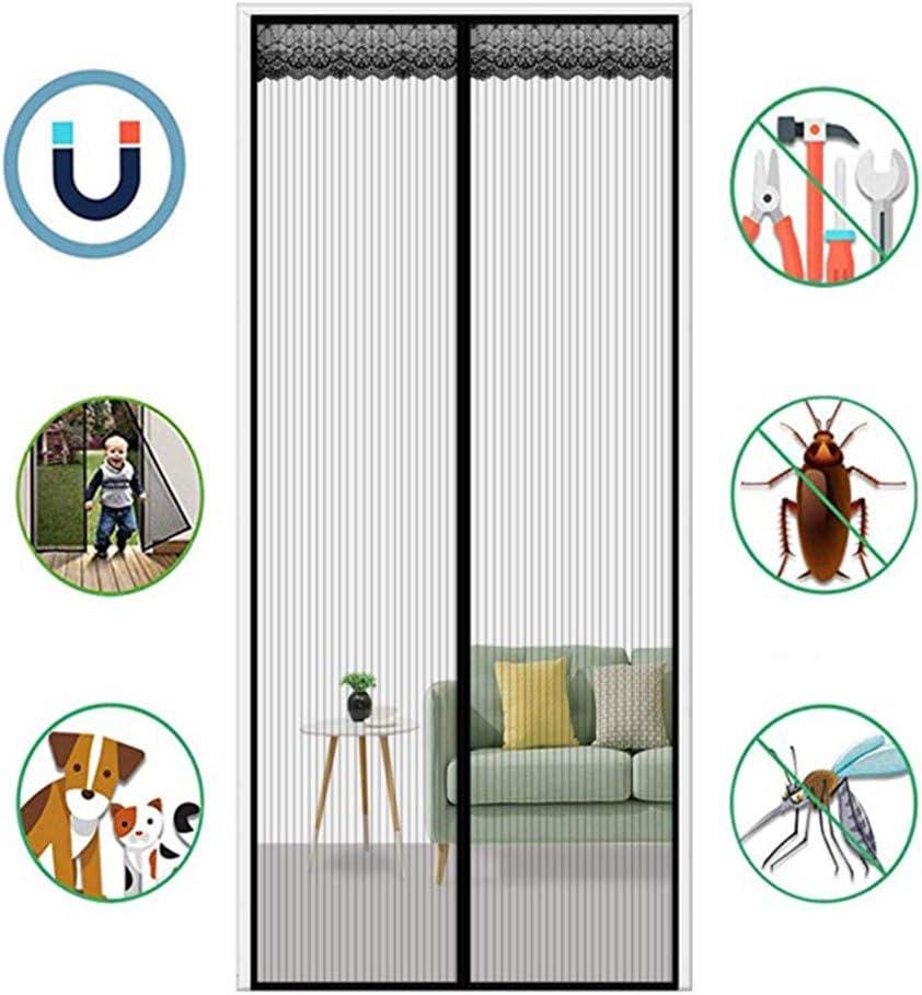 Moustiquaire Magnetiqu Rideau Anti Mouche Insectes Fermeture Magnetique Ideal pour Chien Chat Noir UNILIFE Moustiquaire aimant/ée Porte