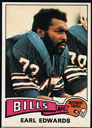 Amazon.com: Football NFL 1975 Topps #86 Earl Edwards Bills ...