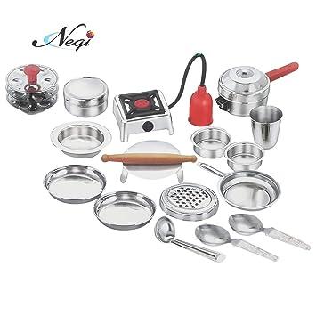Buy Negi 17pcs Stainless Steel Utensils Non Toxic Indian Kitchen Set