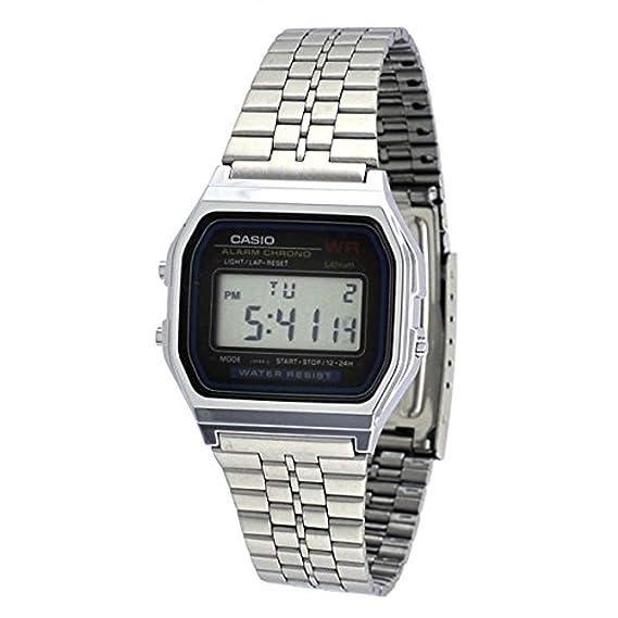 19ccb0ab2 Relógio Feminino Digital Casio Vintage A159WA-N1DF - Prata  Amazon ...