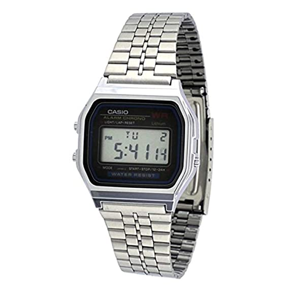 e428829cfee Relógio Feminino Digital Casio Vintage A159WA-N1DF - Prata  Amazon ...