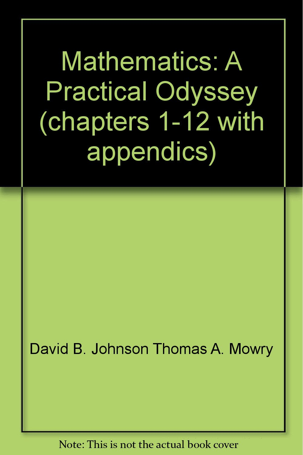 Mathematics A Practical Odyssey Chapters 1 12 With Appendics