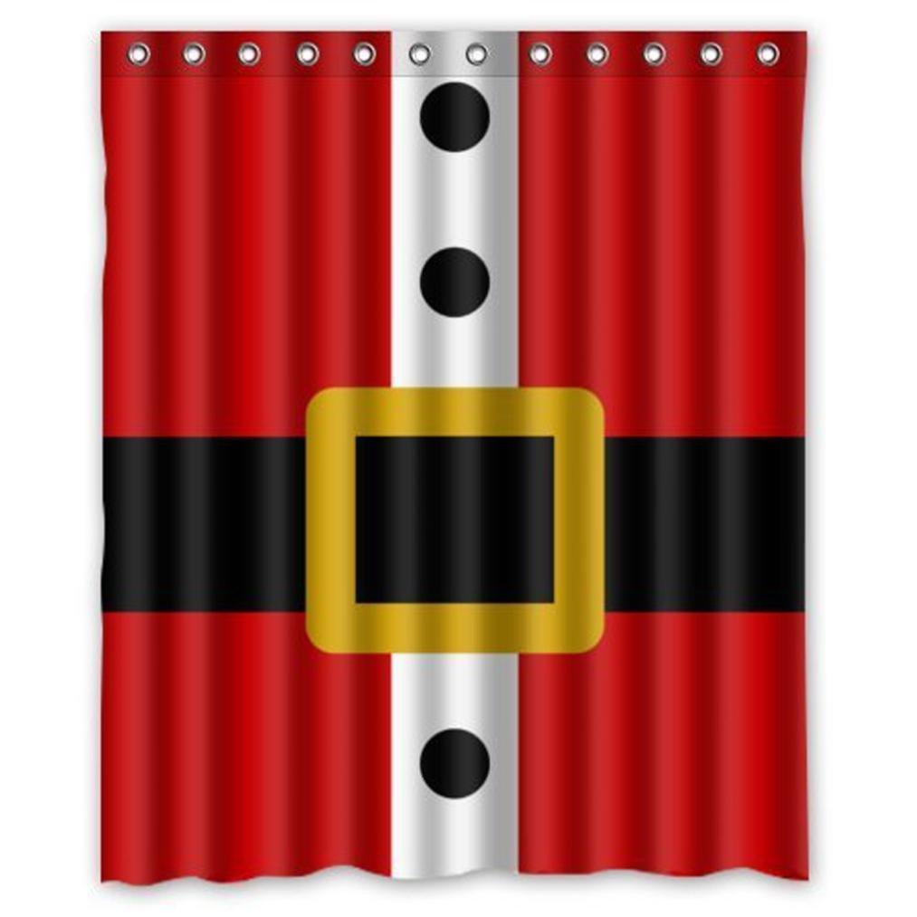 Amazon.com: Shower Curtain Santa Belt Waterproof Polyester Fabric ...