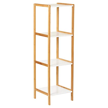 Astounding Hartleys White Bamboo 4 Tier Bathroom Shelves Amazon Co Download Free Architecture Designs Scobabritishbridgeorg