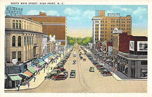 High Point North Carolina South Main Street Antique Postcard - Of Streets Point South
