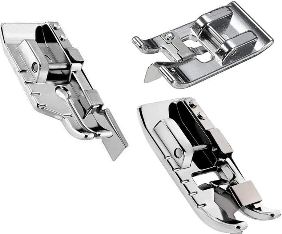 18 or 14 Metal Patchwork Topstitching Quilting Presser Foot Attachment with Guide Bar for Brother Sewing Machine