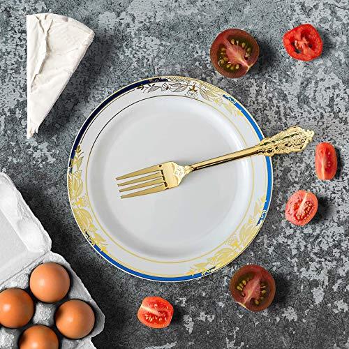 Blue Rim Salad Plate - Efavormart 10 PCS | 8