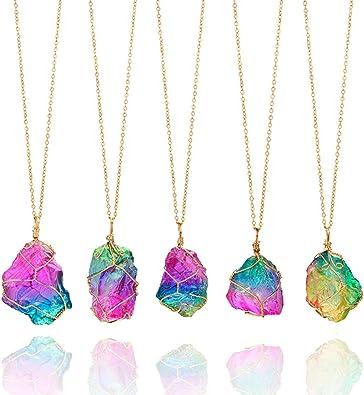 Chakra crystals choker