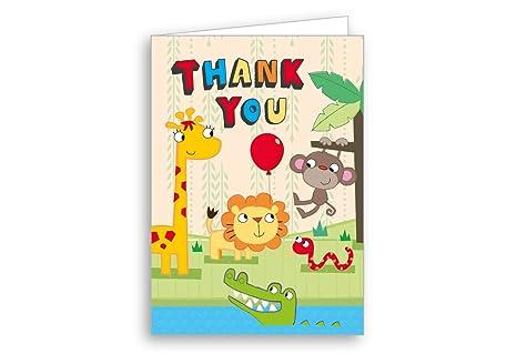 Tarjeta de agradecimiento de los niños Safari de la , 20 ...