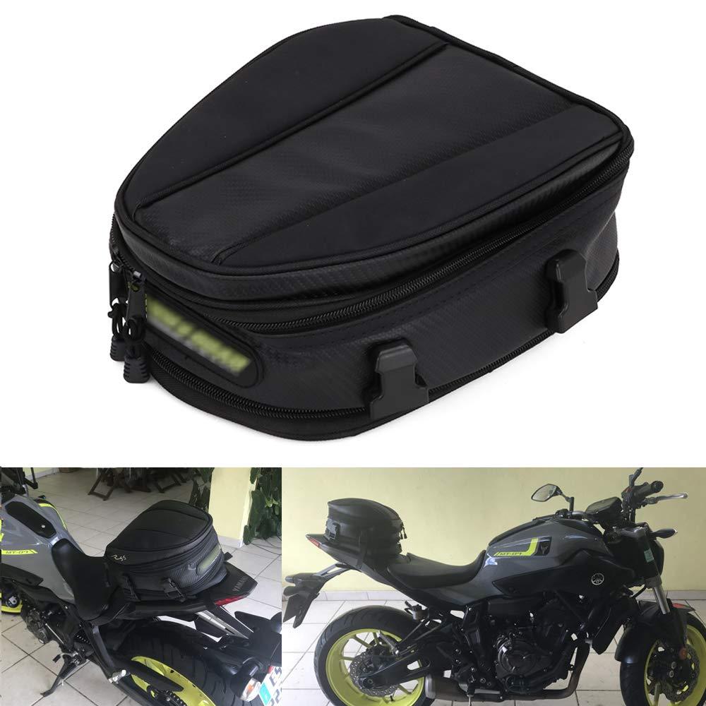 JFG RACING - Bolsa de Transporte para Motocicleta, Impermeable, Bolsa de Asiento para Motocicleta, sillí n de Piel sinté tica, Multifuncional, Mochila Deportiva, 15 litros sillín de Piel sintética