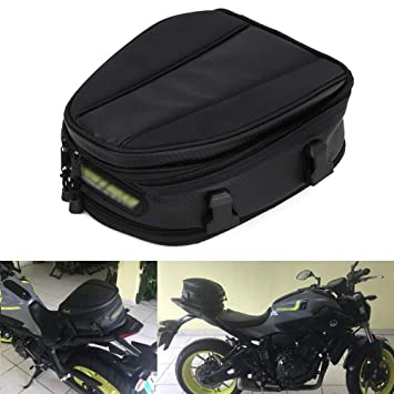 JFG RACING Bolsas de Asiento para Motocicleta, Impermeable, sillín de Piel sintética, Multifuncional, 15 litros