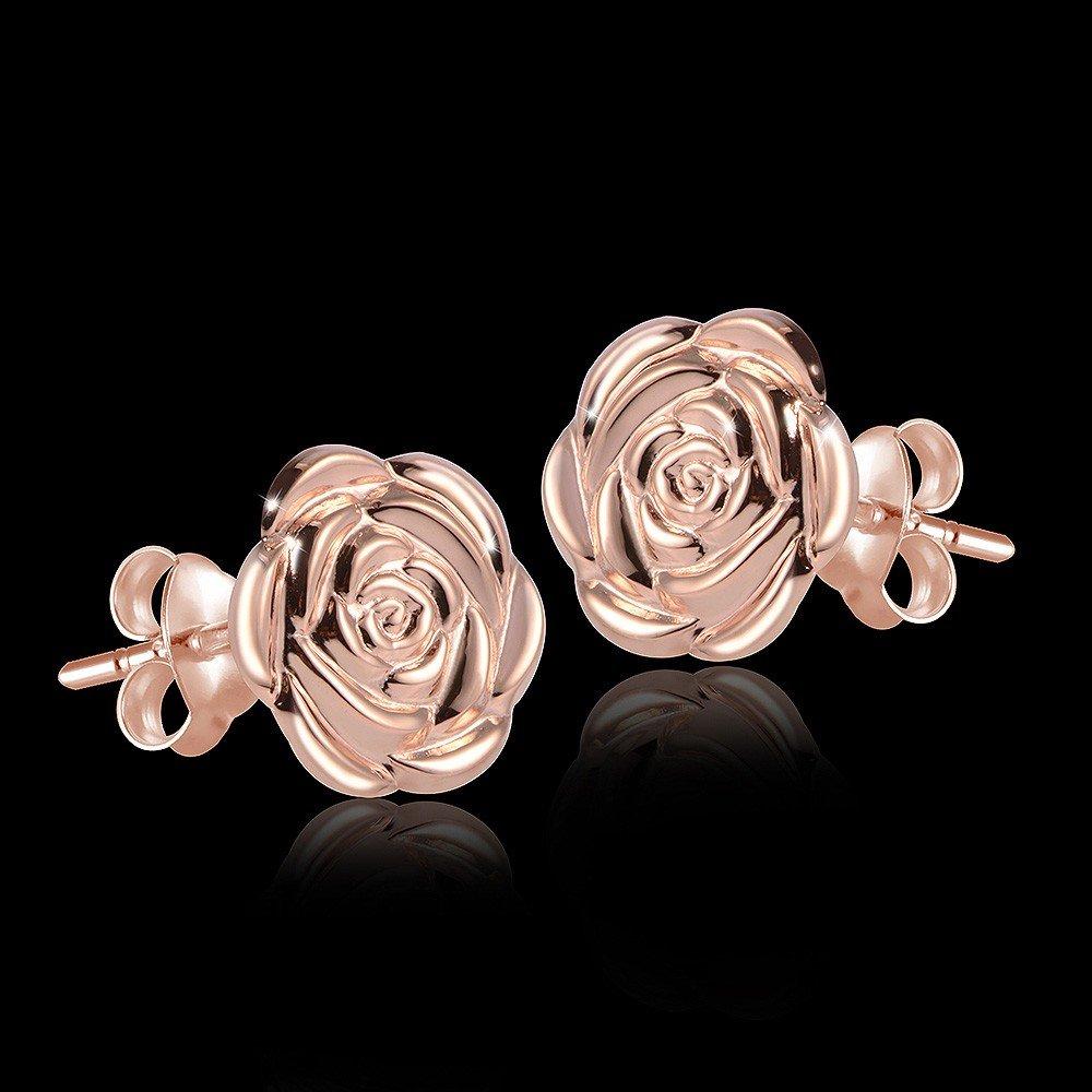MATERIA Damen Ohrringe Rosen 925 Sterlingsilber Rosegold  SO-254   Amazon.de  Schmuck ebf59ed485