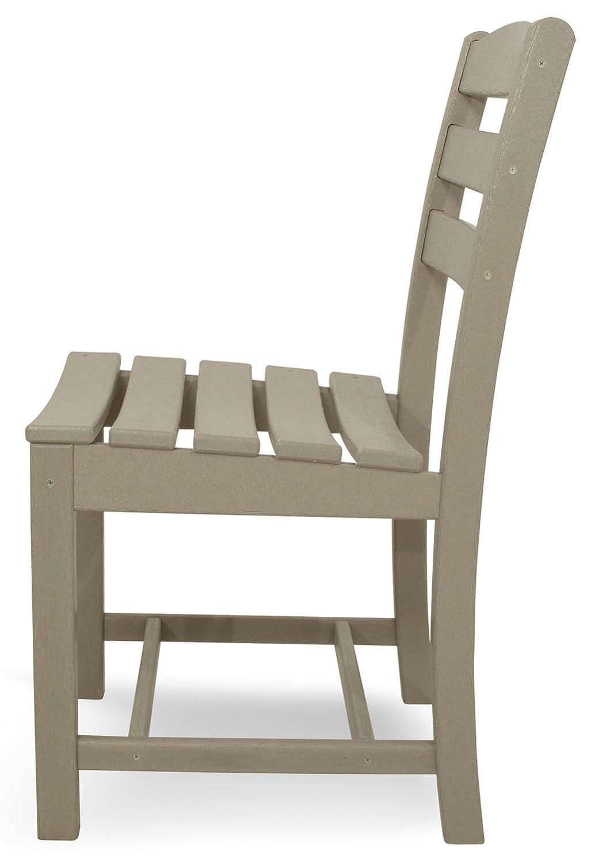 POLYWOOD TD100SA La Casa Caf Dining Side Chair, Sand