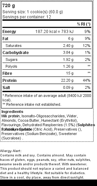 12 x ZERO Cookie 60 g Pastelito de chocolate: Amazon.es: Salud y cuidado personal