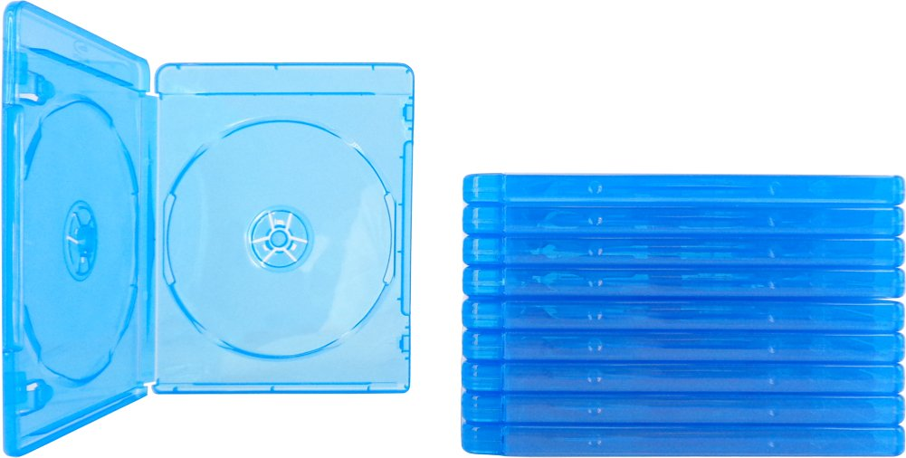 (10) Empty Standard Double Blue Replacement Boxes / Cases for Blu-Ray Disc Movies BR2R12BL FBA_Bluray-Double