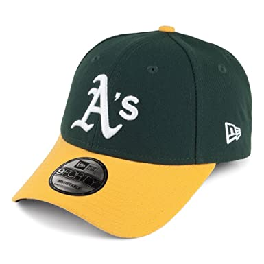 927b6f57317 New Era 9FORTY Oakland Athletics Baseball Cap - League - Green-Yellow  Adjustable