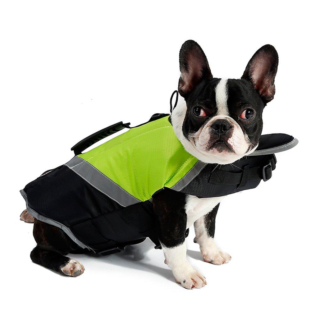 Petneces - Chaleco salvavidas portátil para perro, con reflectante de seguridad para la vida de mascotas: Amazon.es: Productos para mascotas