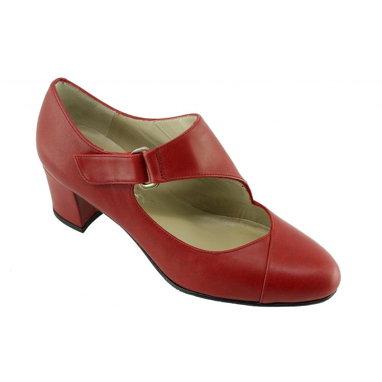 Angelina® Isaora Escarpins Rouge Contemporain à Patte Velcro - Petites Et Grandes Pointures