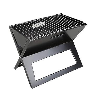 Ballylelly Barbacoa Plegable Parrilla Plegable de Carbón Portátil Barbacoa Estufa Caja para Hogares Al Aire Libre