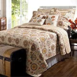 Greenland Home 5-Piece Andorra Bonus Quilt Set, King