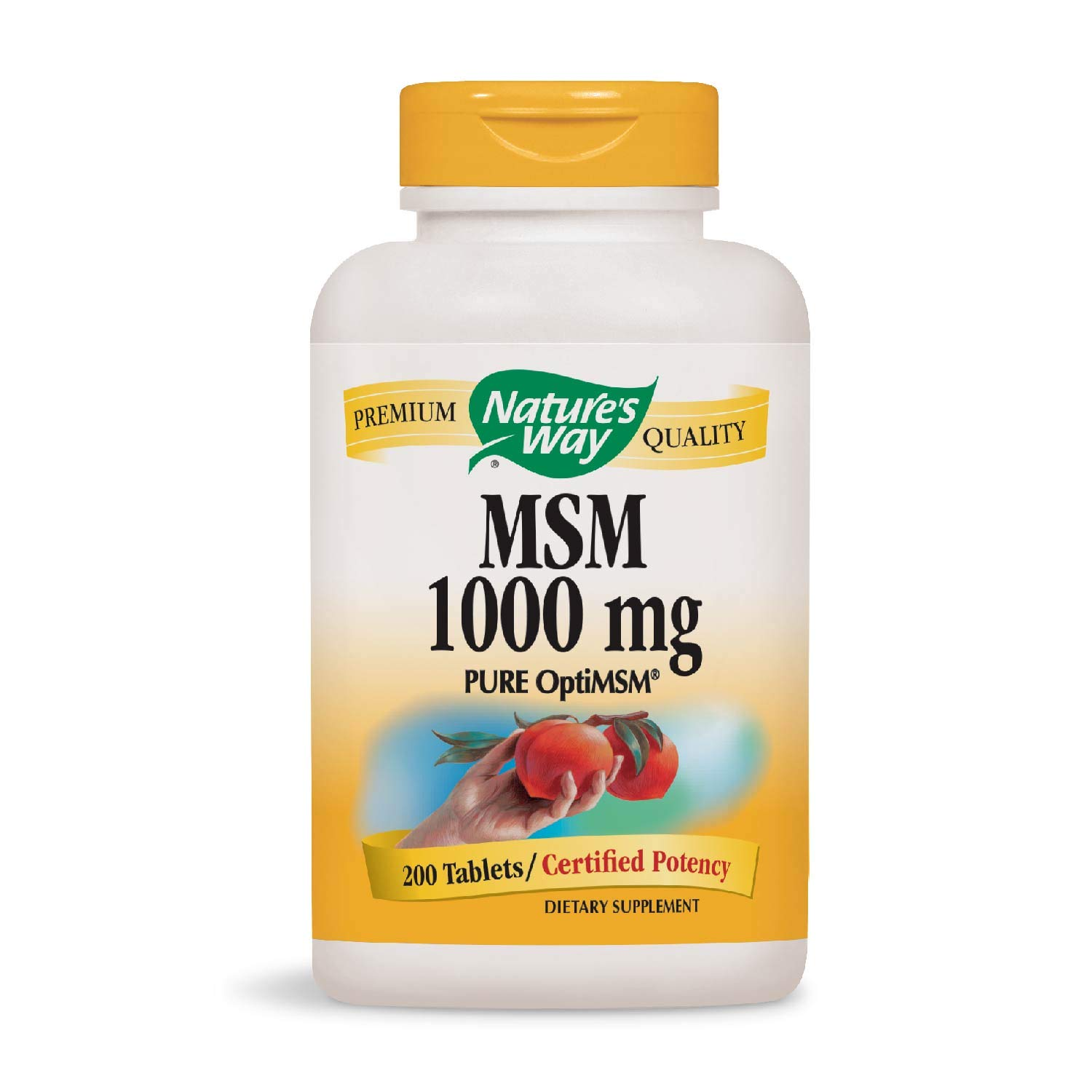 Nature's Way MSM 1000mg, 200 Tablets