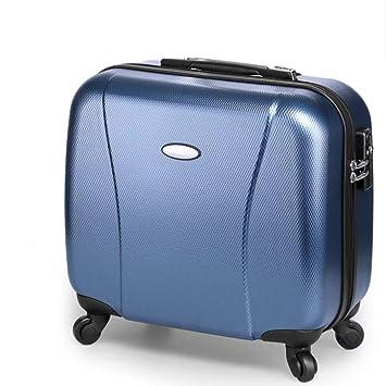 Maletas Maletas De Viaje para Hombres Y Mujeres De Maleta para Pequeñas Empresas De 16 Pulgadas, 43 Cm * 22 Cm * 37 Cm (Color : Azul): Amazon.es: Equipaje