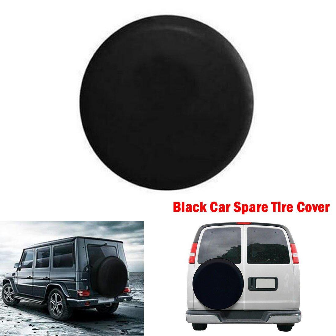 Reserveradabdeckung Pneus De Carro Reserveradabdeckung Schwarz PU-Anh/änger Leder Car Styling schwarz 15 1x