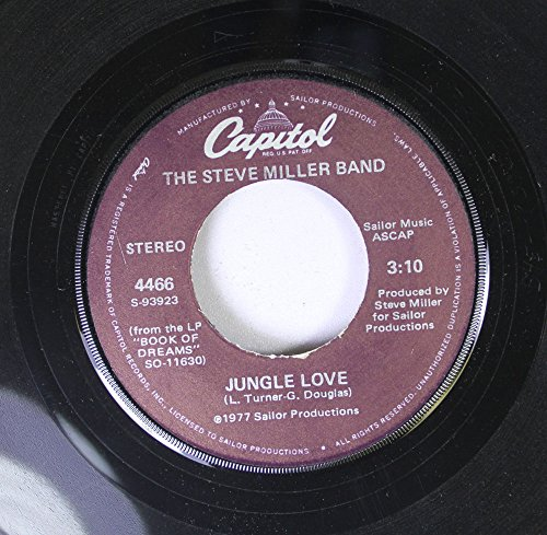 The Steve Miller Band 45 RPM Jungle Love / Wish Upon A Star