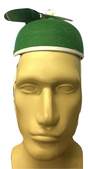 872855088f5de Amazon.com  Felt Beanie Copter Helicopter Propeller Hat Cap Costume  Accessory Green  Clothing