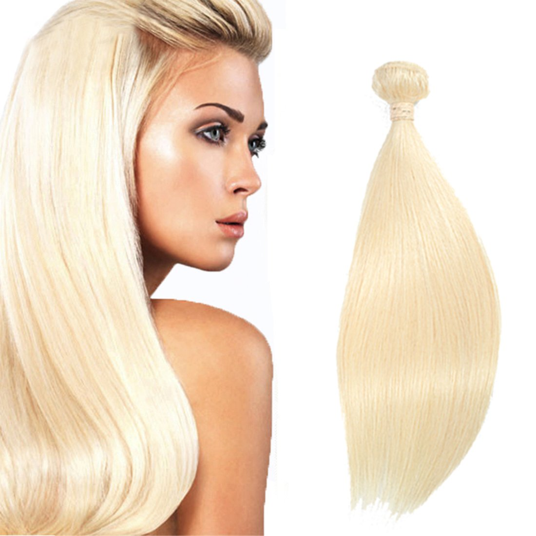 Amazon 613 Blonde Straight Virgin Hair 1 Bundle Honey Blonde